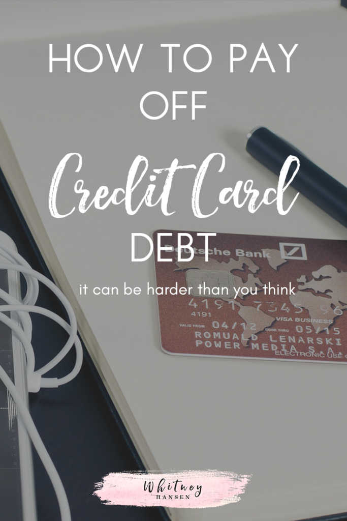 How to pay off credit card debt