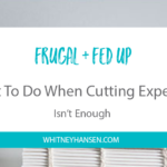 Frugal + Fed Up: What To Do When Cutting Expenses Isn't Enough
