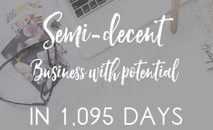 How I built a semi-decent business with potential in 1,095 days