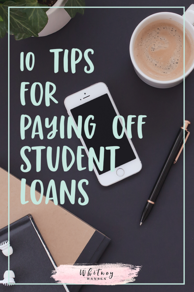 10 ways to pay off your student loans fast