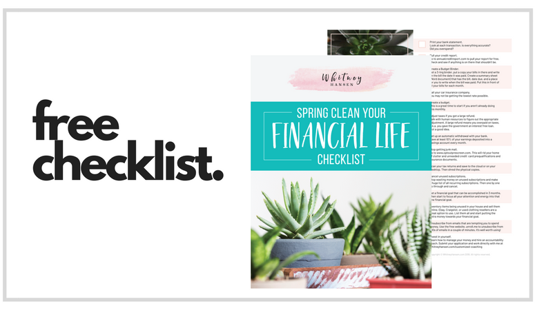 Spring Clean Your Financial Life- Free Checklist