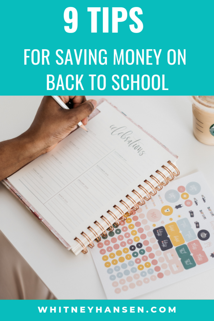 Awesome Top 9 Back To School Money Saving Tips Whitney Hansen Home Interior And Landscaping Ymoonbapapsignezvosmurscom