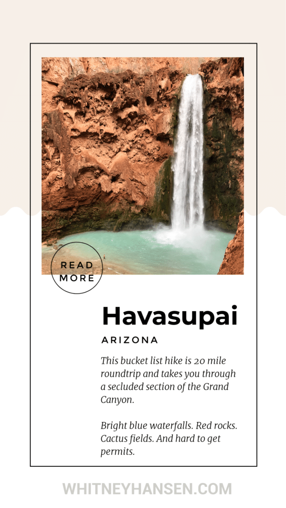 The ultimate guide to hiking Havasupai Falls. How to get permits, total cost, and tips and tricks for the hike.