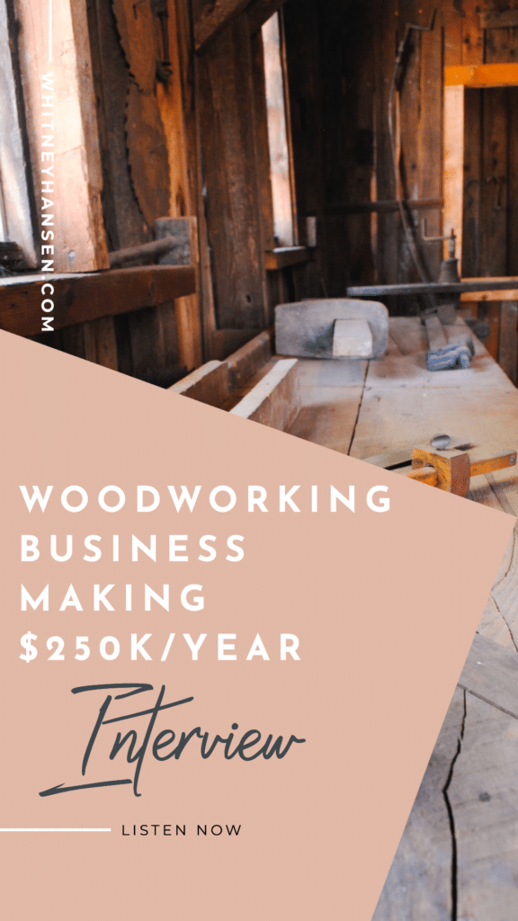 How to run a $250,000 woodworking business from your garage interview with Alex Jangard from Heart of Timber